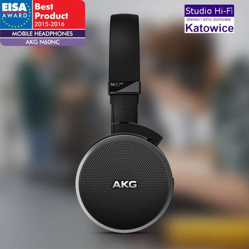 AKG N60 NC słuchawki z aktywną redukcją szumów. Nagroda EISA !!