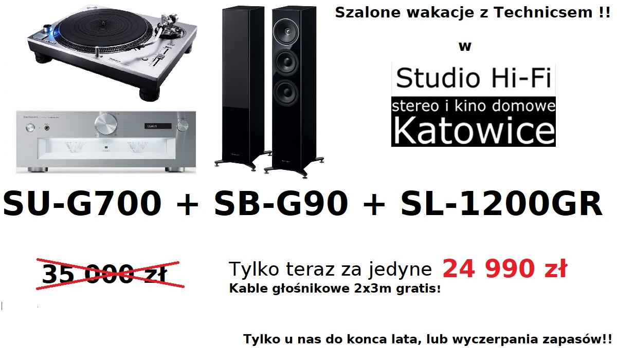 Technics SU-G700 + SL-1200GR + SB-G90 zestaw promocyjny