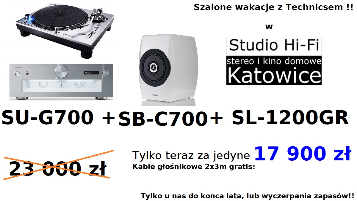 Technics SU-G700 + SL-1200GR + SB-C700 zestaw promocyjny