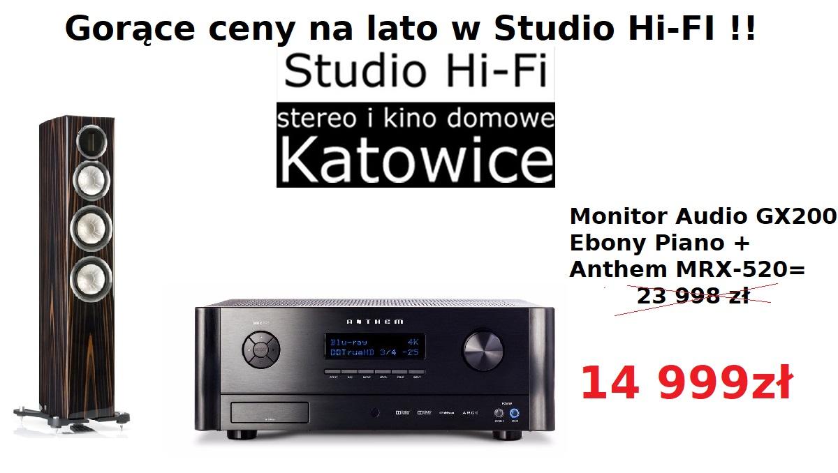 Anthem MRX-520 + Monitor Audio GX200 Ebony promocja