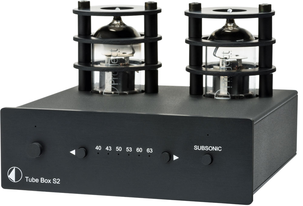 Pro-Ject Tube Box S2   Przedwzmacniacz gramofonowy   Czarny
