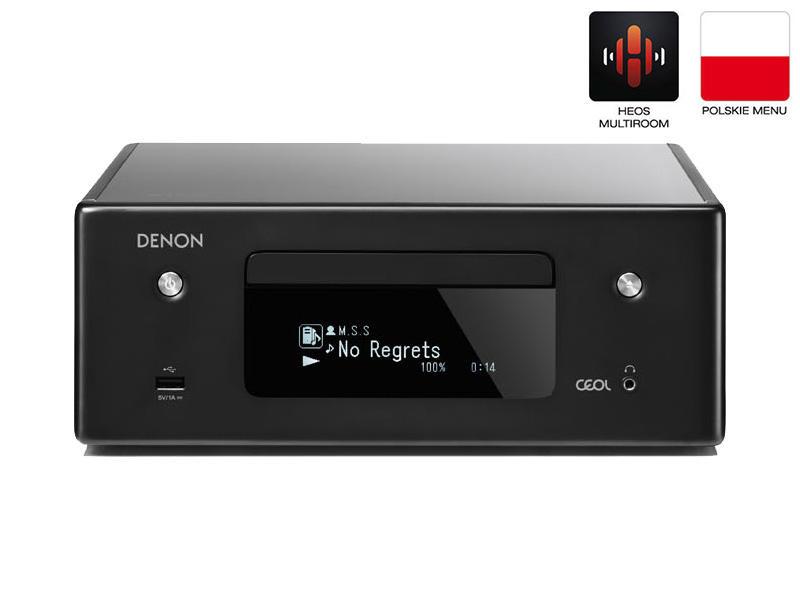 Denon RCDN-10 | Amplituner stereofoniczny z CD | Czarny