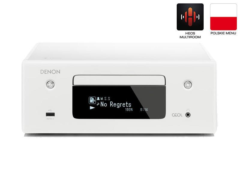 Denon RCDN-10 | Amplituner stereofoniczny z CD | Biały | Dostępne od ręki!