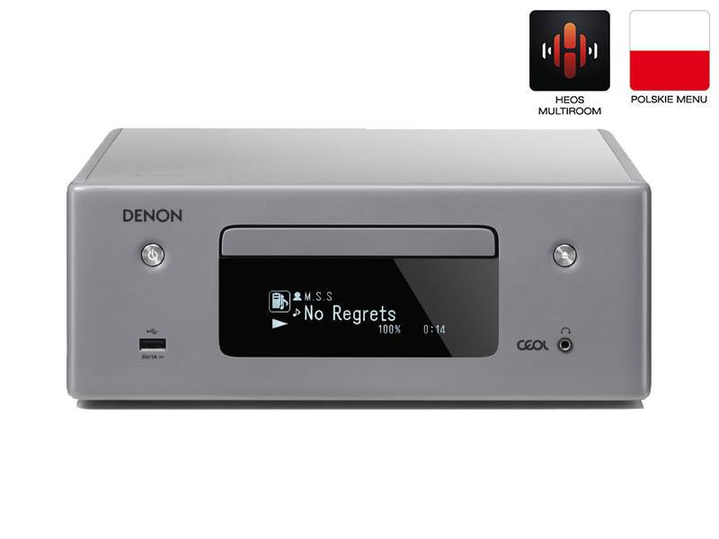 Denon RCDN-10 | Amplituner stereofoniczny z CD | Szary