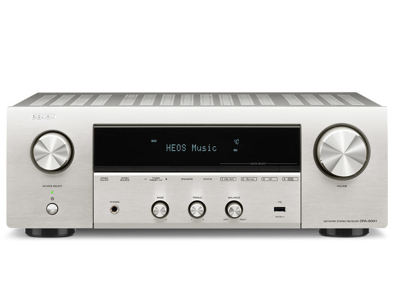 Denon DRA-800H | Amplituner stereofoniczny | Srebrny