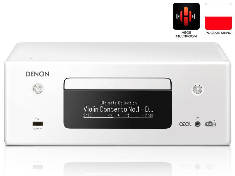 Denon RCDN-11 DAB | Amplituner stereofoniczny z CD | Biały | Dostępne od ręki!