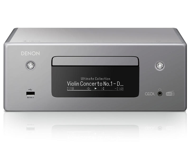 Denon RCDN-11 DAB | Amplituner stereofoniczny z CD | Szary