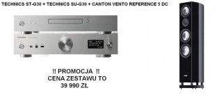 Technics ST-G30 + SU-G30 + Canton Vento Reference 5 DC  czarne para