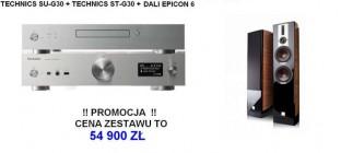 Technics St-G30 + Su-G30 + Dali Epicon 6  para orzech
