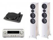 Zostań w domu z muzyką zestaw- Denon DRA-800H + Heco Aurora 700 biały + Pro-Ject 1-Xpression