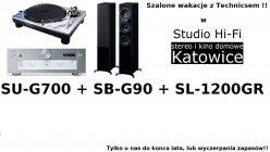Technics SU-G700 + SL-1200GR + SB-G90 | Zestaw promocyjny